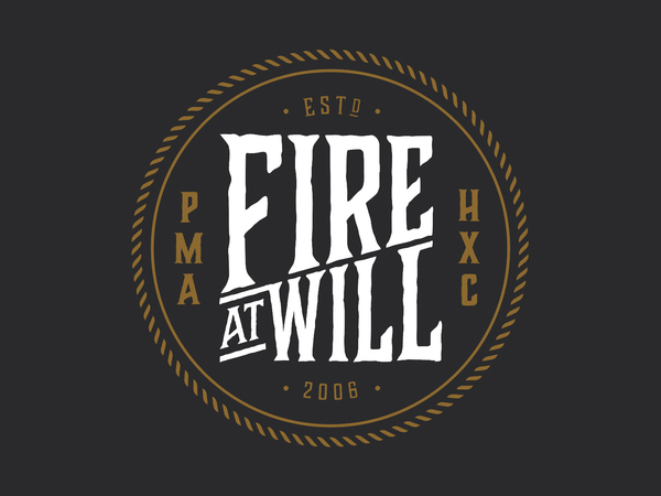 Fire At Will Badge Logo