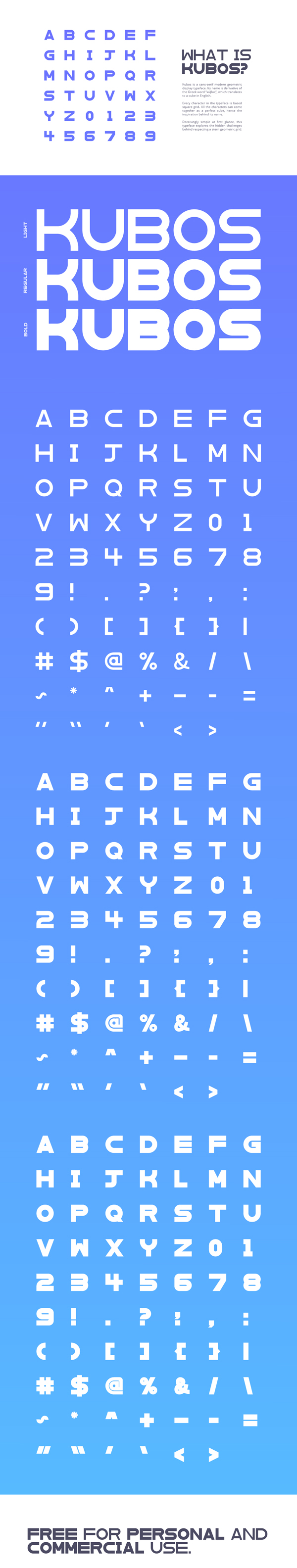 Kubos Font Letters