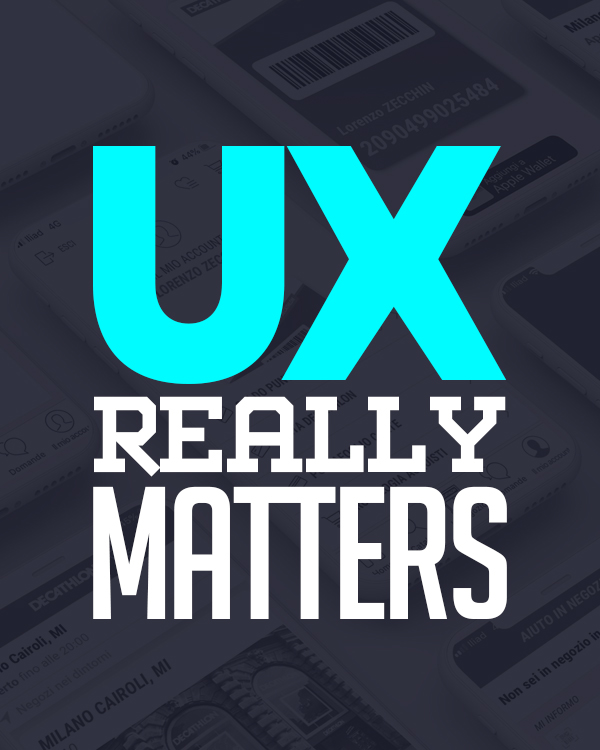 UX really matters?