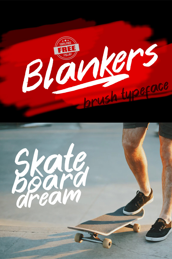 Blankers Free Font - 50 Best Free Brush Fonts