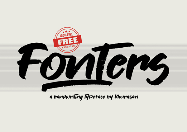Fonters Free Font - 50 Best Free Brush Fonts