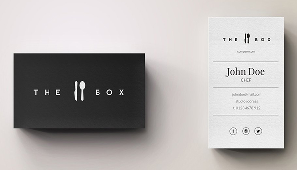 Chef Minimal Logo and Business Card