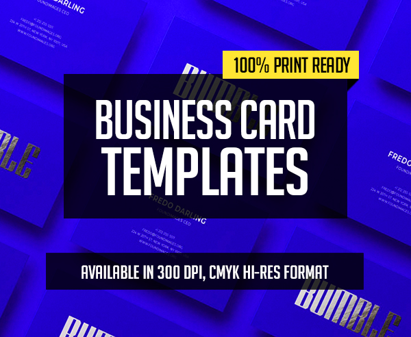 New Professional Business Card Templates – 32 Print Design