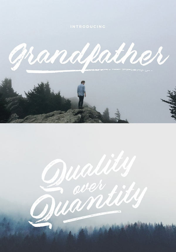 Grandfather – Brush Script Free Font - 50 Best Free Brush Fonts