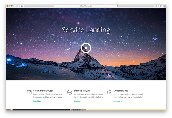 ServicesLanding – Bootstrap Landing Page Template