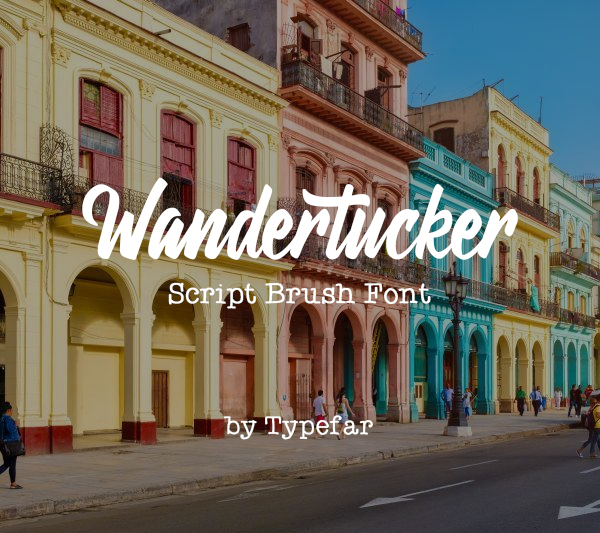 Wandertucker Free Font - 50 Best Free Brush Fonts