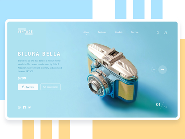 50 Modern Web UI Design Concepts with Amazing UX - 39