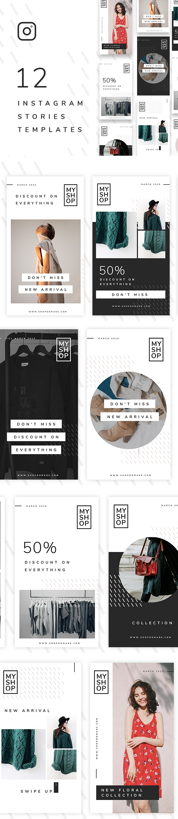Free Instagram Stories Template PSD Files