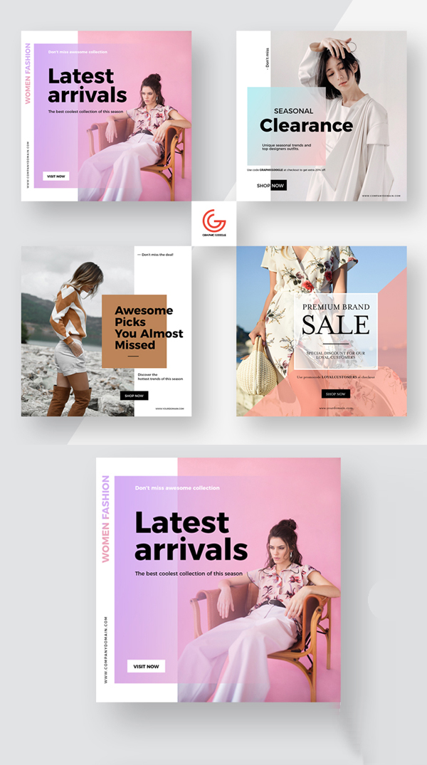 Free Social Media Square Promotion Banner Templates PSD