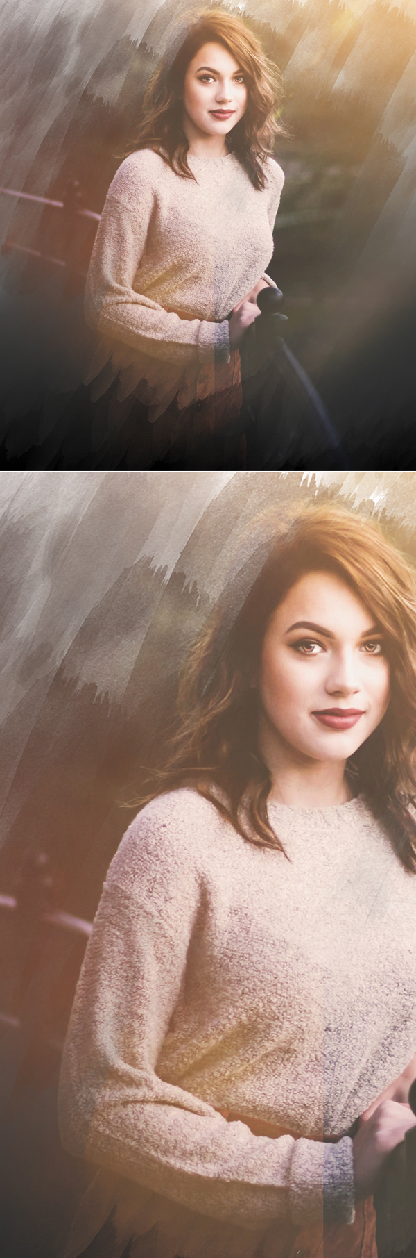 Free Brush effect Image PSD Template