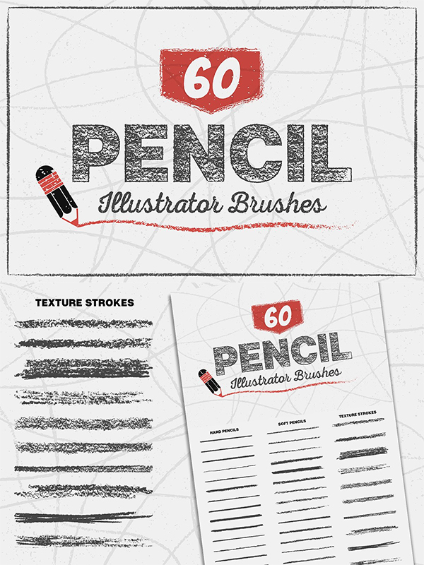 Pencil Brushes for Illustrator