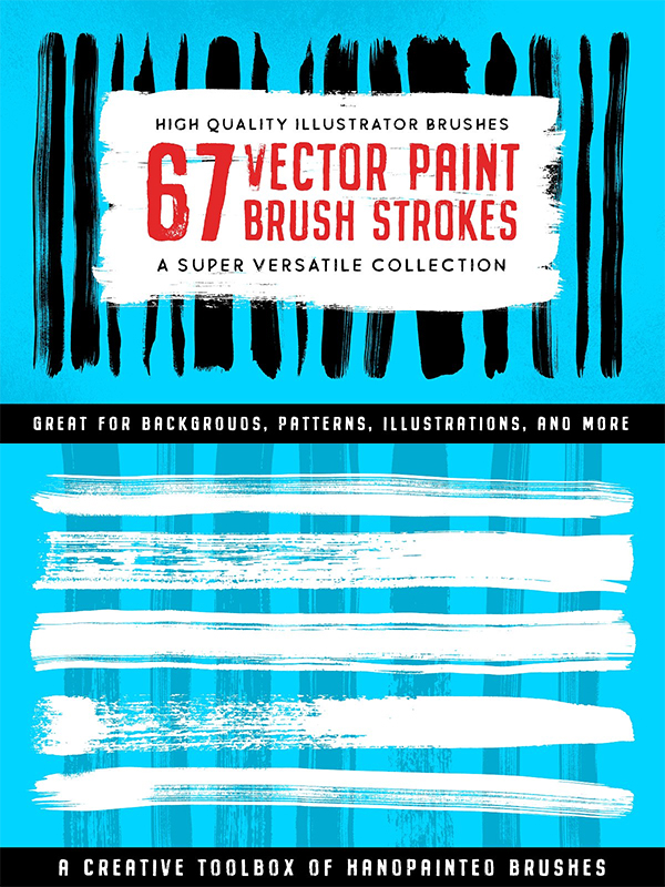 Illustrator Paint Stroke Brushes
