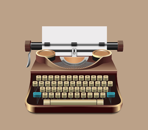 How to Create a Realistic Old Style Typewriter in Illustrator Tutorial