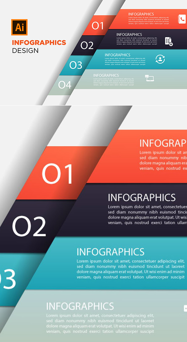 How to Draw 3D Infographic Design in  Illustrator CC Tutorial