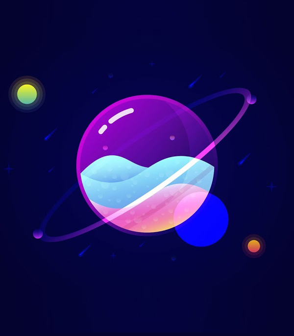 How to Create Glass Planet Vector Illustration in Adobe Illustrator Tutorial