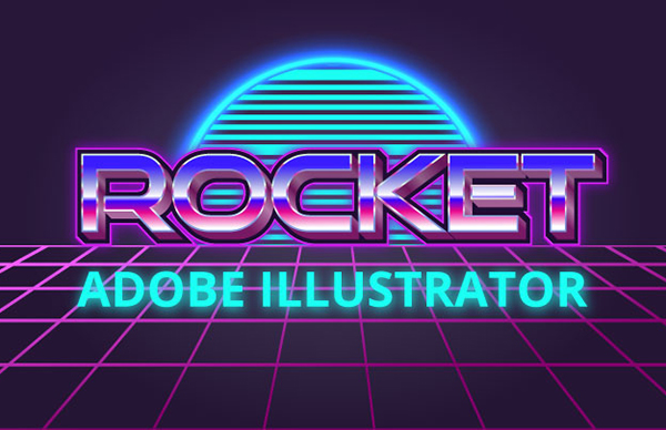How To Design 80-th Banner with Retro Text Effect in Adobe Illustrator