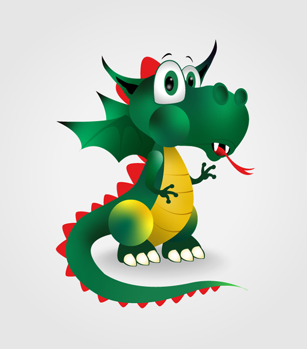 How to Create a Cute Dragon Character Drawing in Adobe Illustrator Tutorial