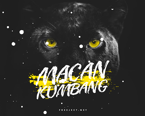 MACAN KUMBANG Free Font - 50 Best Free Brush Fonts