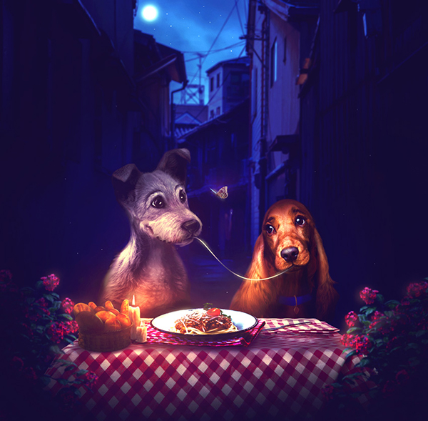 How to Create a Lady and the Tramp Photo Manipulation in Adobe Photoshop