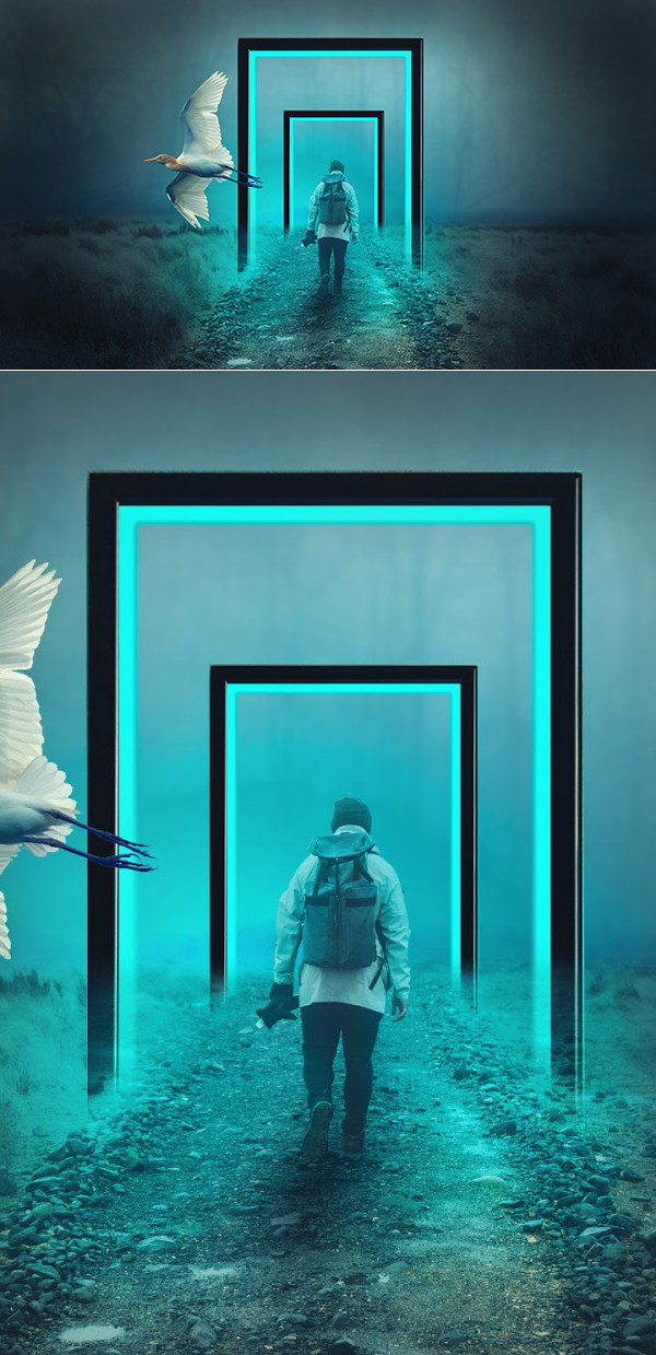 How to Create Light Frame Photoshop Manipulation in Photoshop