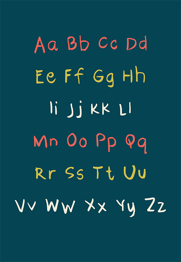 Pippa Handwriting Font Letters