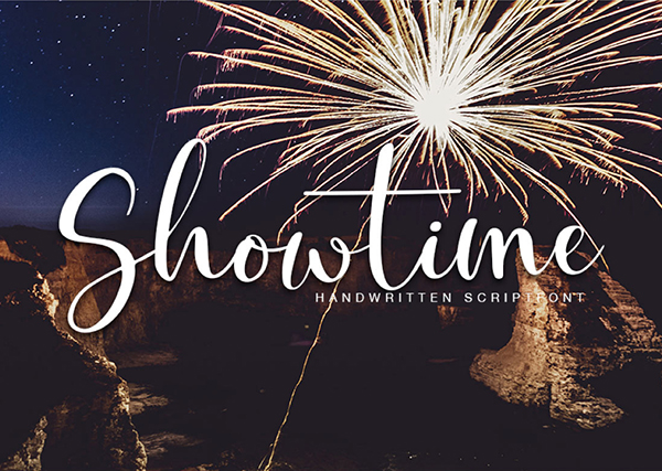 Showtime Handmade Calligraphy Free Font Design