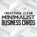 Post thumbnail of 26 Minimal Clean Business Cards (PSD) Templates