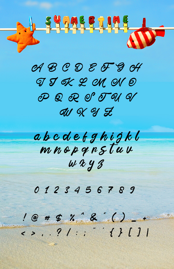 This July Free Font Letters