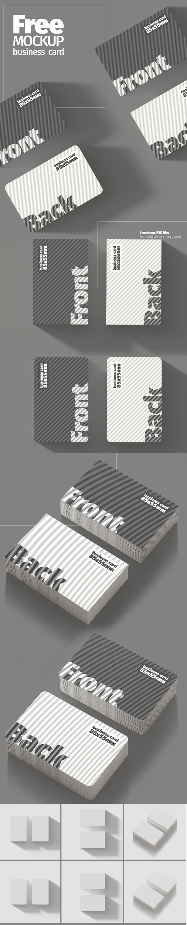 Free High Quality Business Card Mockup Template