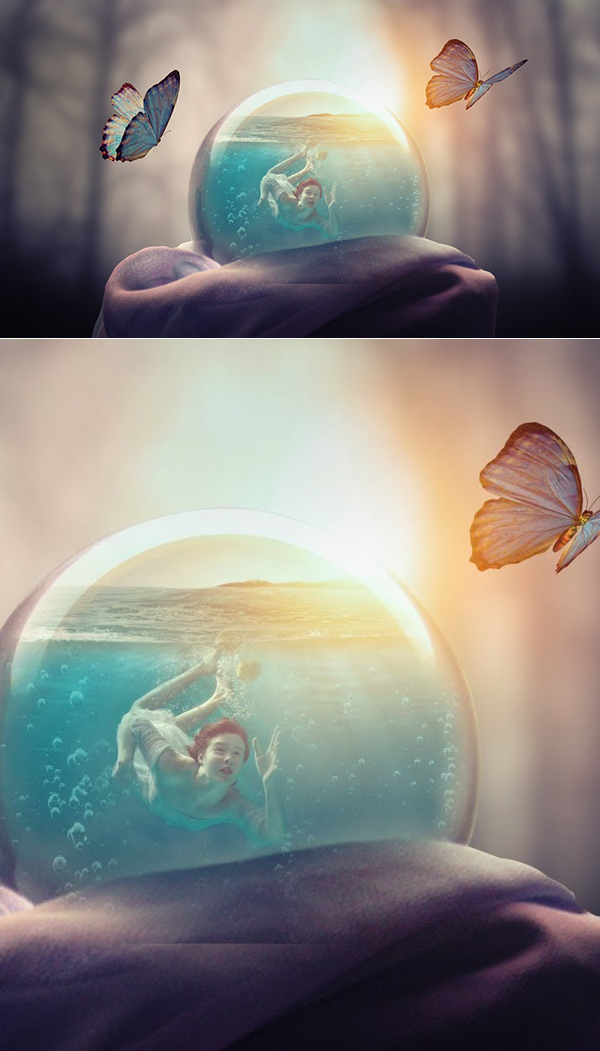 How to Create Glass Ball Manipulation Digital Artwork in Photoshop