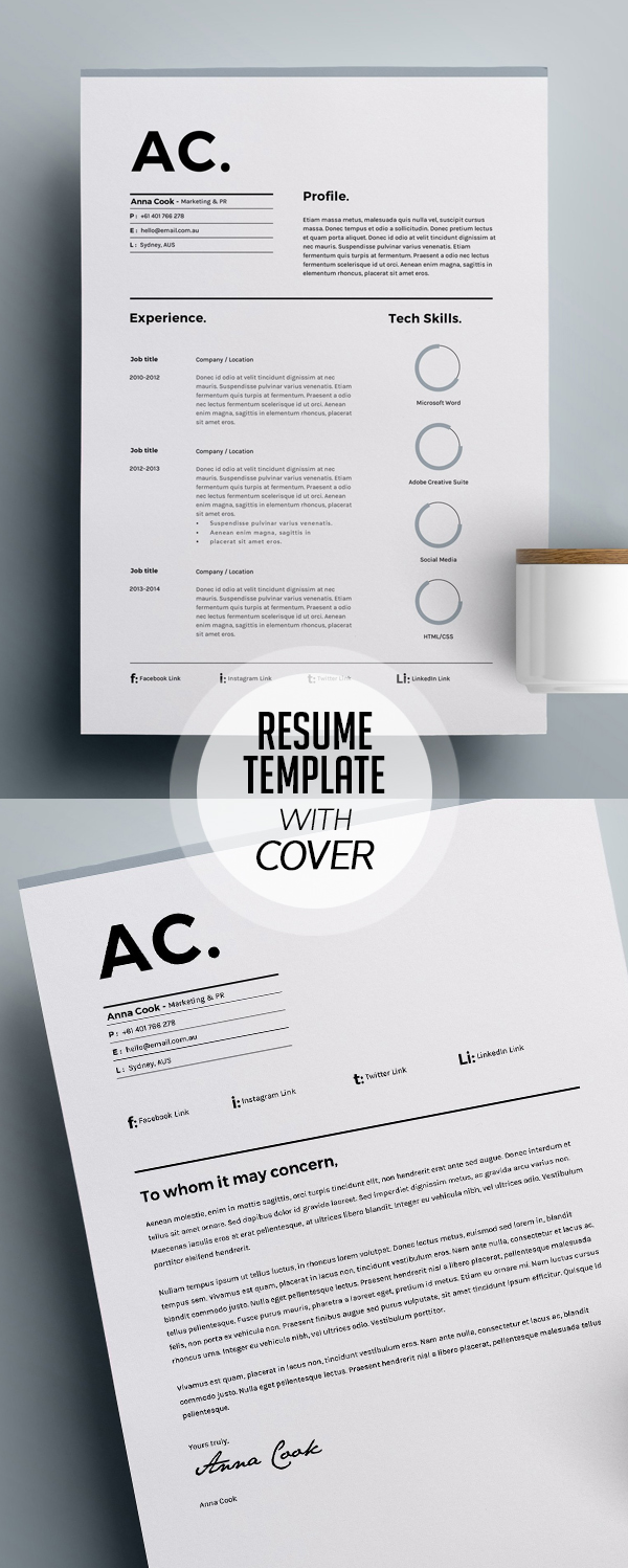 Resume Template 3 Page | CV Template #resumedesign