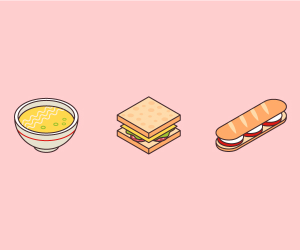 How to Make Isometric Art Food Icons in Adobe Illustrator