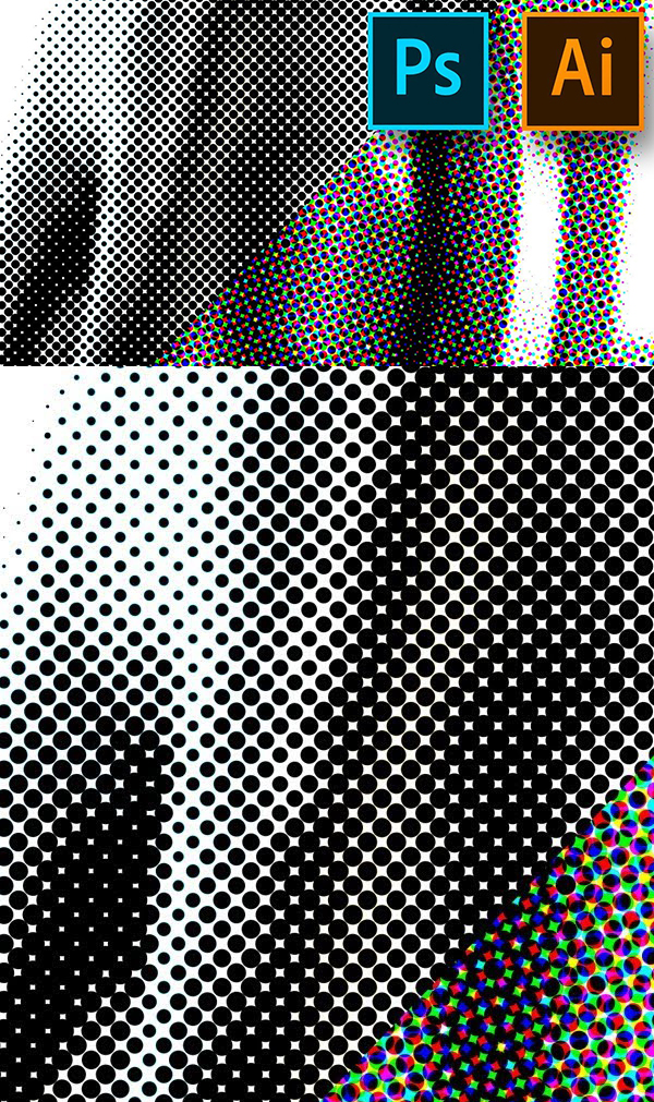 How to Make Halftone Effect Patterns and Brushes in Photoshop and Illustrator