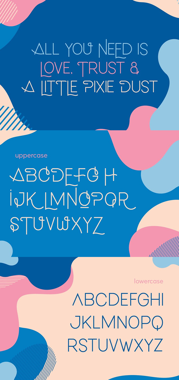 Lonely Lover Free Font Letters