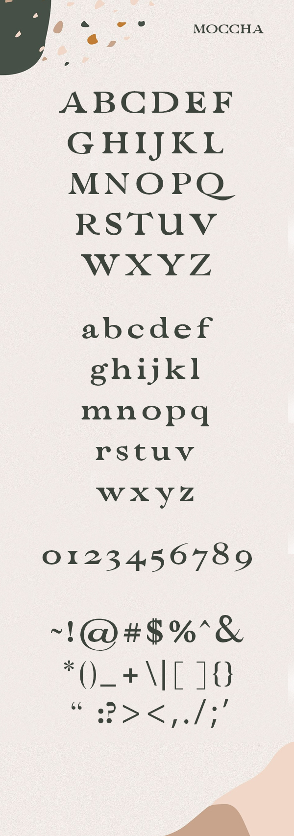Moccha Free Font Duo Letters