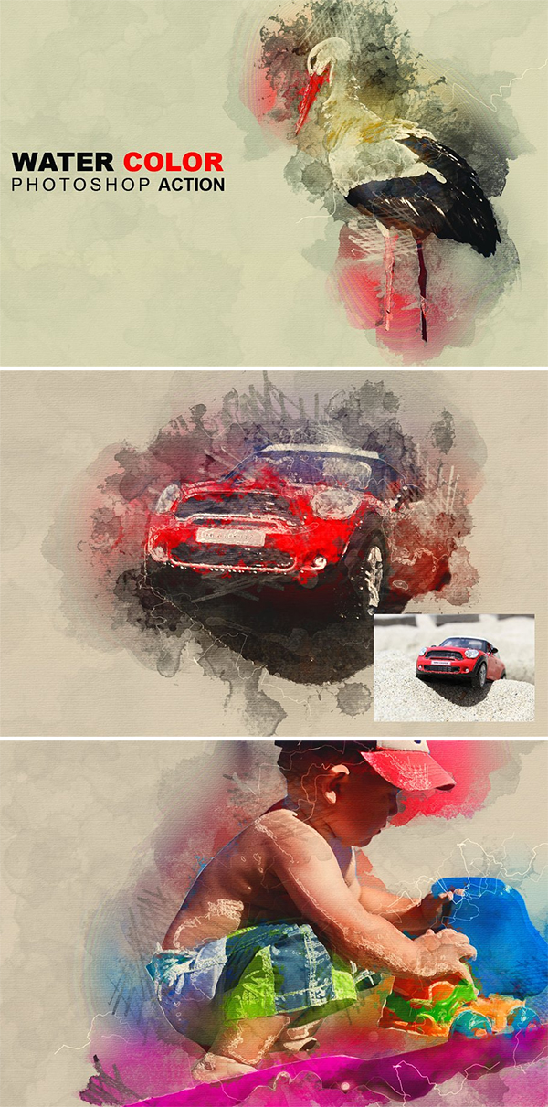Creative Water Color Photoshop Action