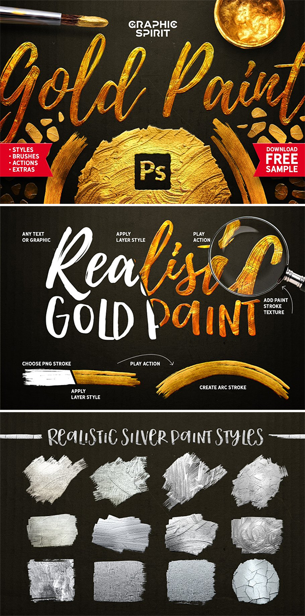 TOOLKIT Gold Paint Effect Photoshop