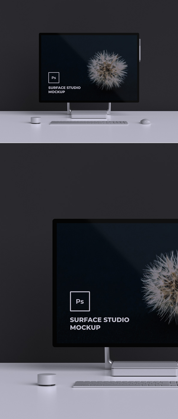 Free Surface Studio Mockup