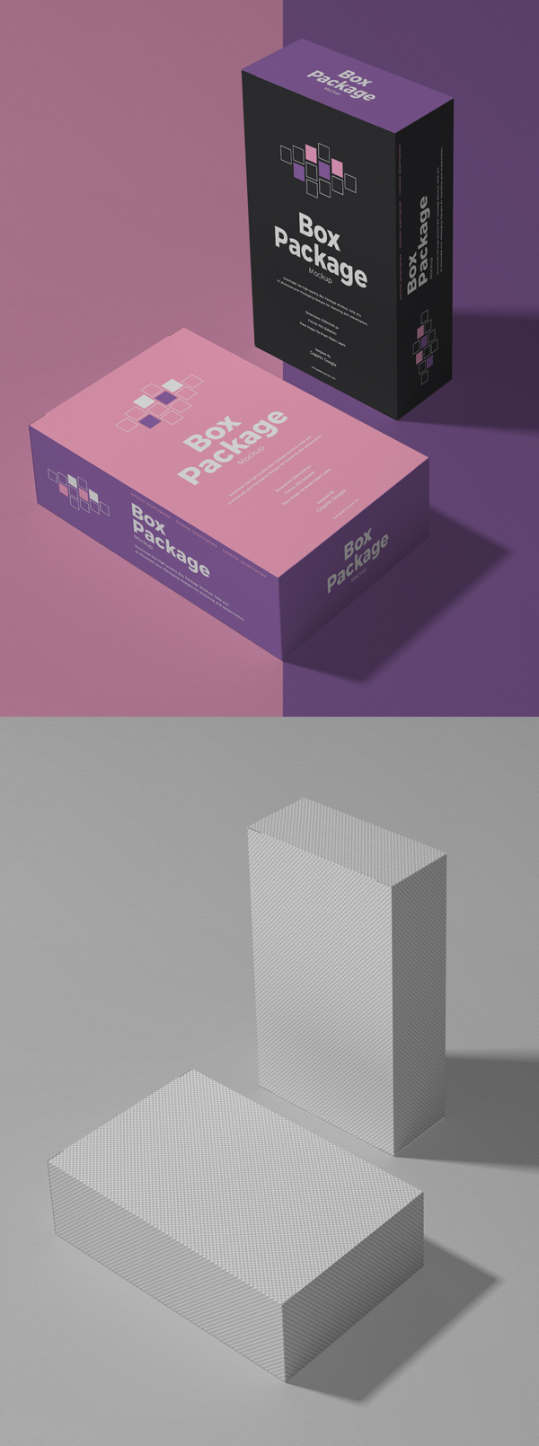 Free Packing Box PSD Mockup