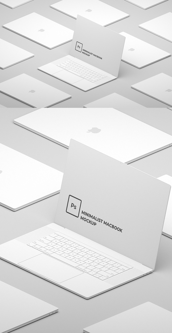 Free Minimalist Macbook Mockup