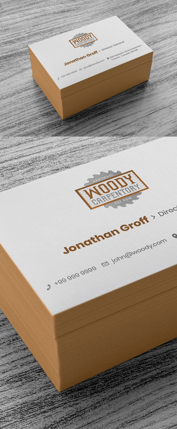 Free Logo and Business Card Mockup PSD
