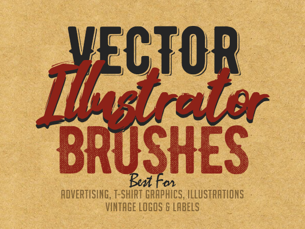 25 Professional Vector Illustrator Brushes