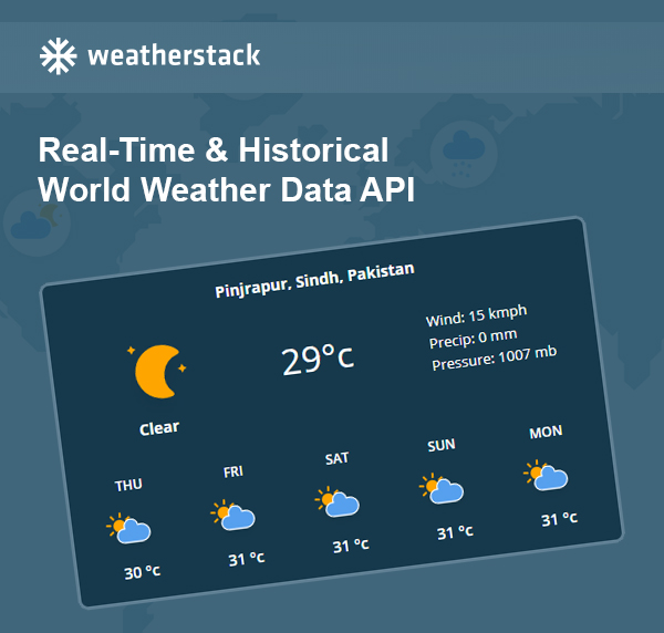 How about Weatherstack – The most reliable weather update tool