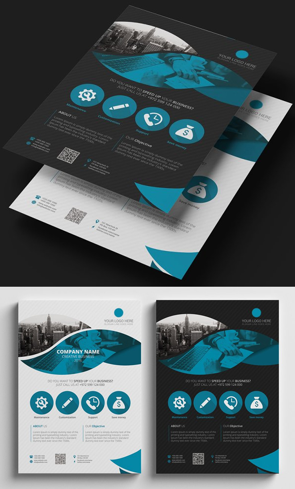 Black and White Flyer Template