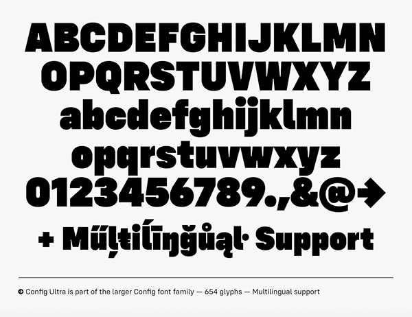 Config Ultra Free Font Letters