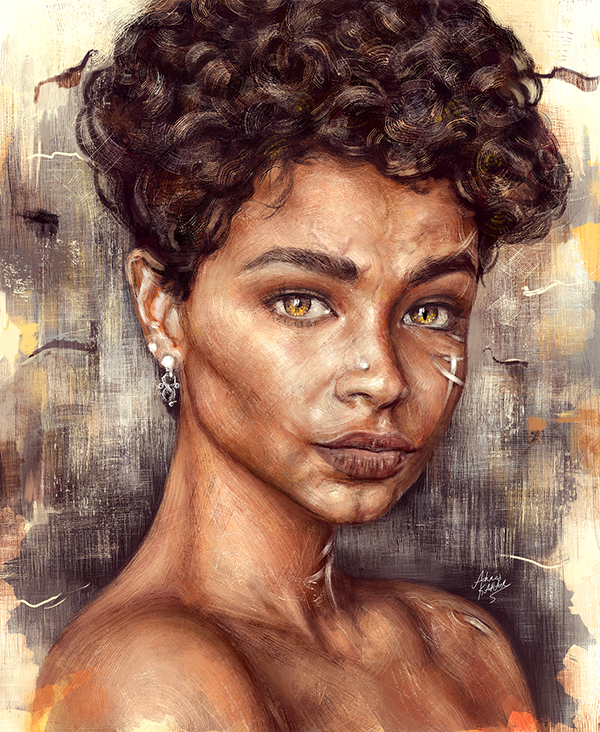 Amazing Digital Portrait Illustrations by Ahmed Karam