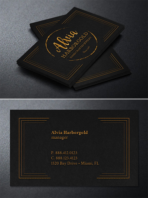 Jewelry Shop Business Card Template