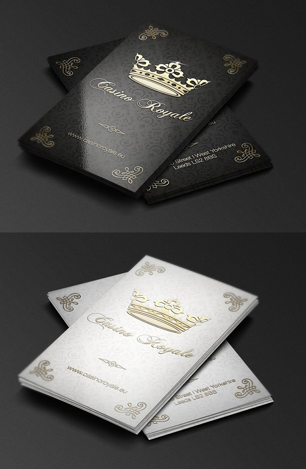Casino Royale Business Card Template