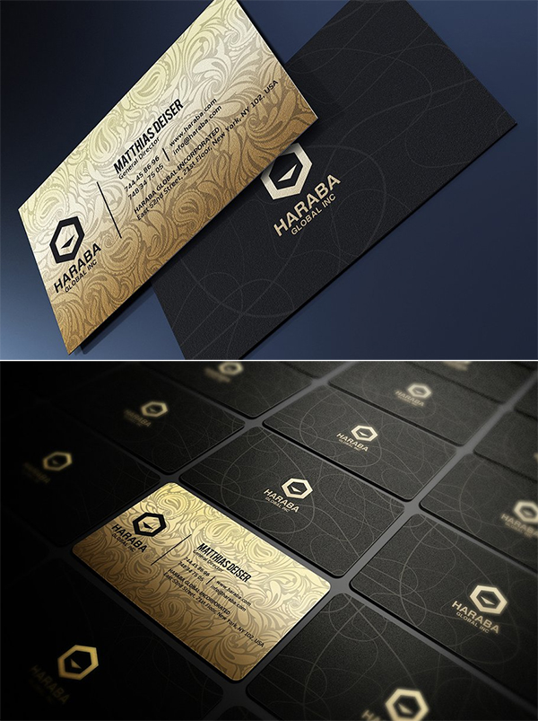 Gold And Black Business Card Design