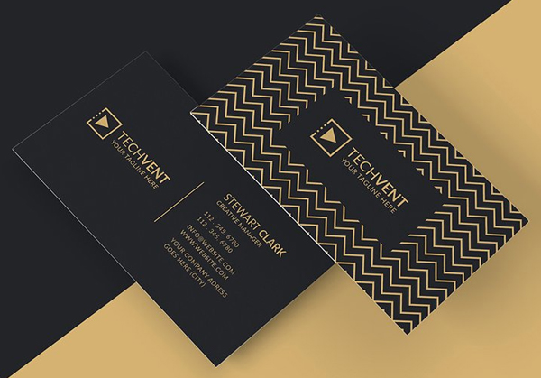 Gold Minimal Business Card Template